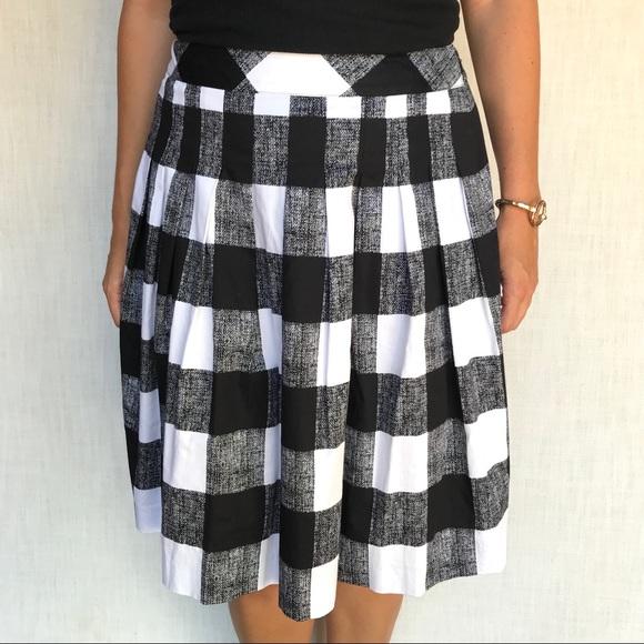 00677f2f41b3 Talbots Black and White Buffalo Check Skirt. M_5b89e98781bbc88a9cb439b6